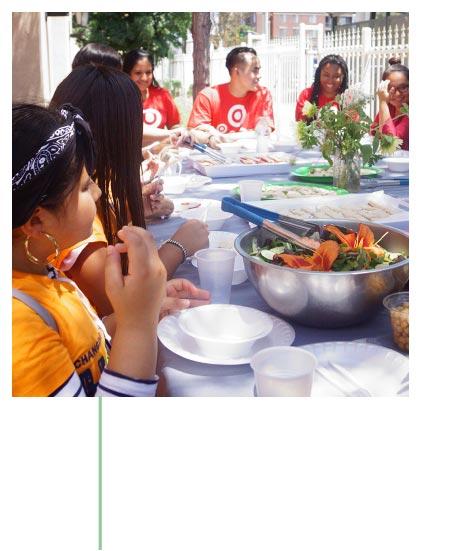Eating together at APCH