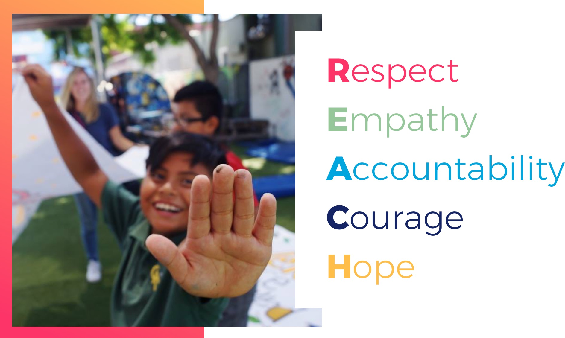 Respect Empathy Accountability Courage Hope